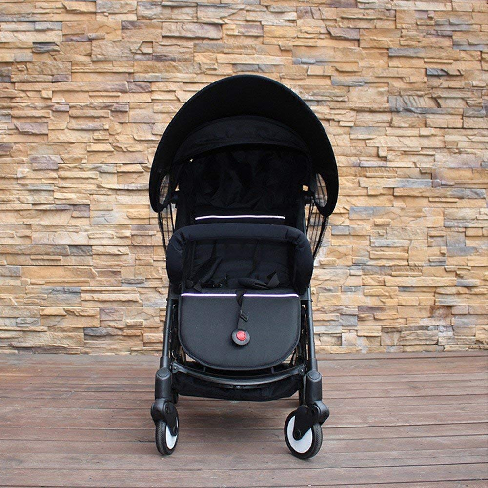 ZLMI Version of Baby Stroller Sun Visor Carriage Sun Shade Canopy Cover for Prams Stroller Accessories Car Seat Buggy Pushchair Cap Sun Hood Black by ZLMI (Image #3)