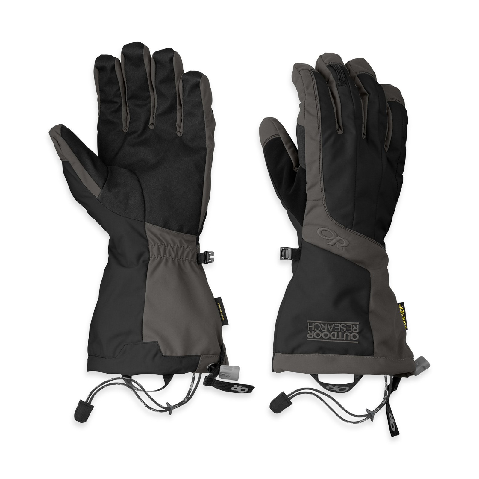 Outdoor Research Men's Arete Gloves, Black/Charcoal, Large