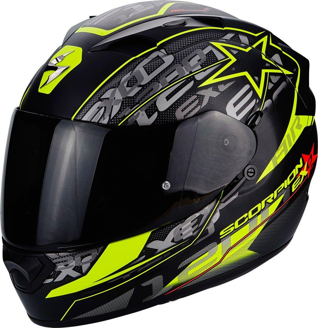 Scorpion Casco Moto EXO-1200 Air Solis, Matt black/neon yellow, xl 45-221-157-06