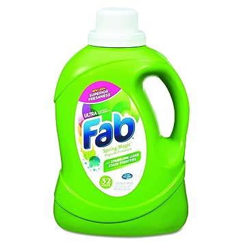 Fab 37060 2 x He líquido detergente de lavandería, primavera Magic, 50Oz, botella (diseño de 6): Amazon.es: Salud y cuidado personal