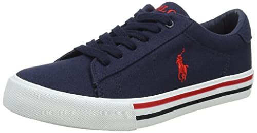 Ralph Lauren Easten, Zapatillas para Chico, Azul (Navy Canvas 000), 35 EU: Amazon.es: Zapatos y complementos