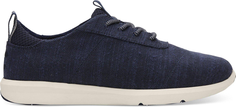 TOMS Men's Cabrillo Cotton Sneaker, Size: 9.5 D(M) US, Color: Navy Slubby Cotton