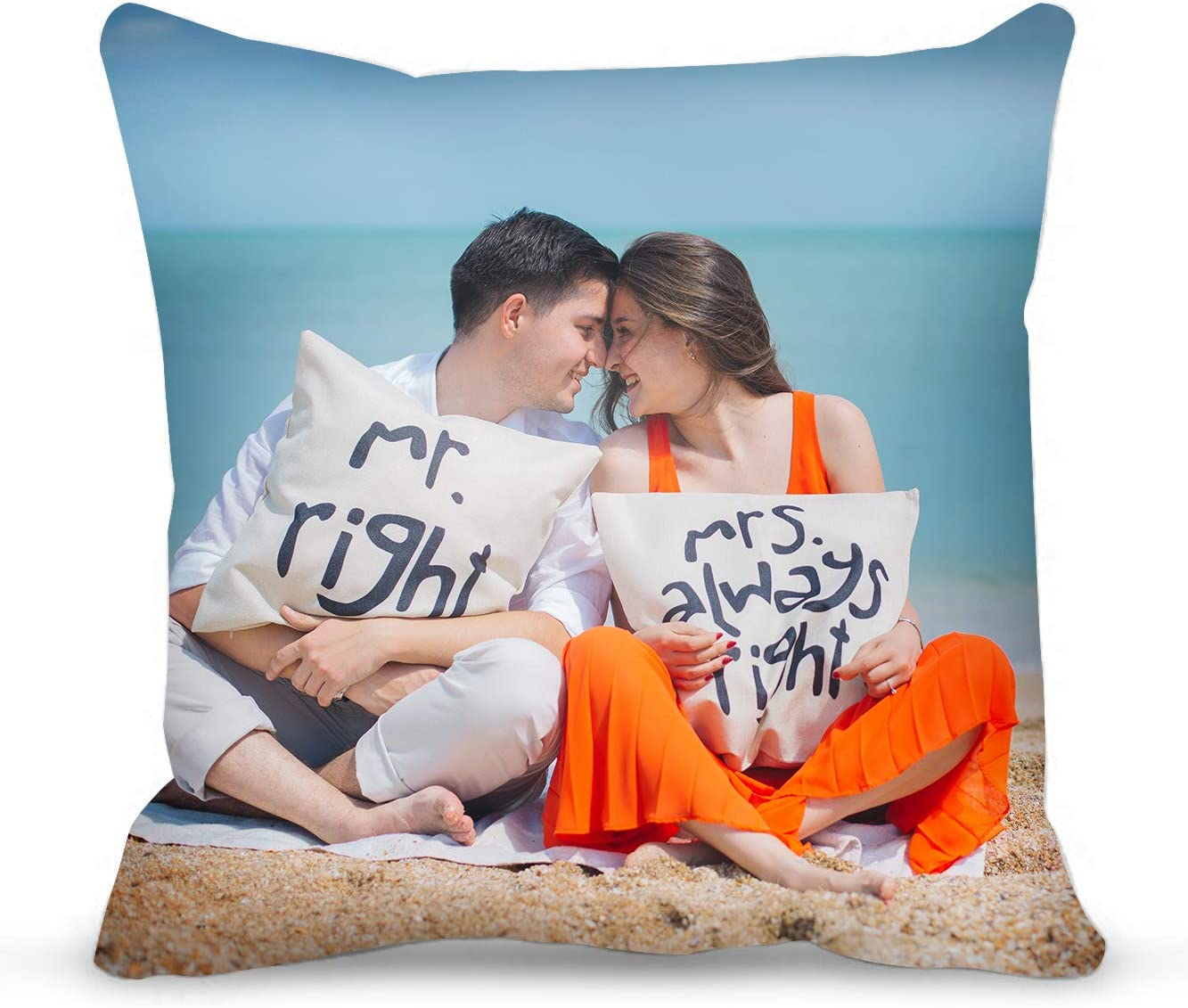 Custom Valentine s Day Decorations Pillow Covers with Insert – 18X18 Inches Custom Photo Pillow with Duplex Print Image Text – Uuniqe Birthday Gift