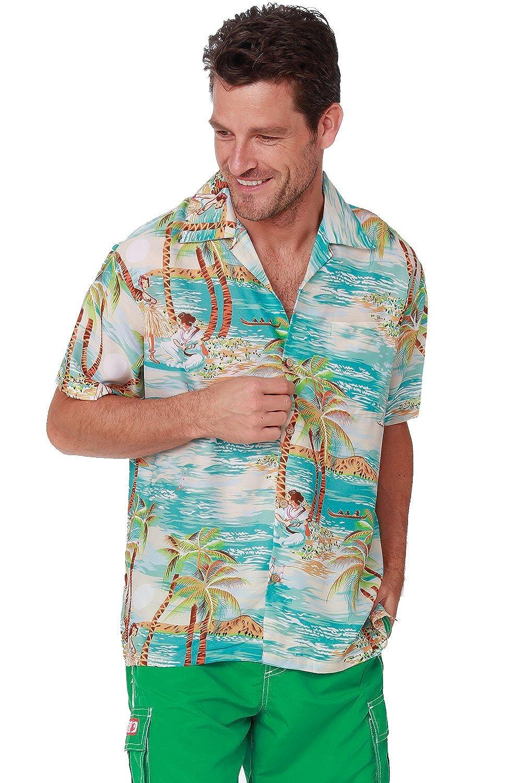 66da4c3f Men's Hawaiian Shirt Button Down Casual Aloha Shirt Short Sleeve Beach  Shirts