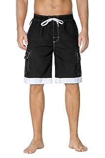 ba77c272f445 Amazon.com: alpine swiss Mens Boardshorts Swim Trunks Hybrid Short ...