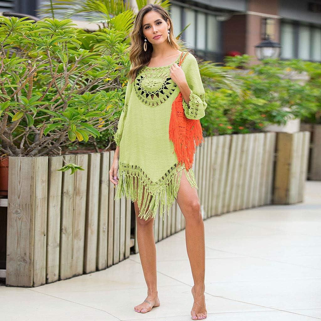 Copricostume Donna Mare Pizzo Copricostumi E Parei Donna Manica Lungo Trasparente Traforato A Rete Sciolto Bikini Cover Up Costume da Bagno Spiaggia Tunica Camicia Abito Kimono