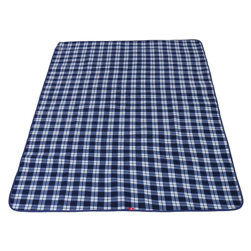 YDLX Large Picnic Blanket Mat with Waterproof Backing Portable Folding Beach Rug for Outdoor Garden Camping Travelling Carpet (Color : Blue) by YDLX