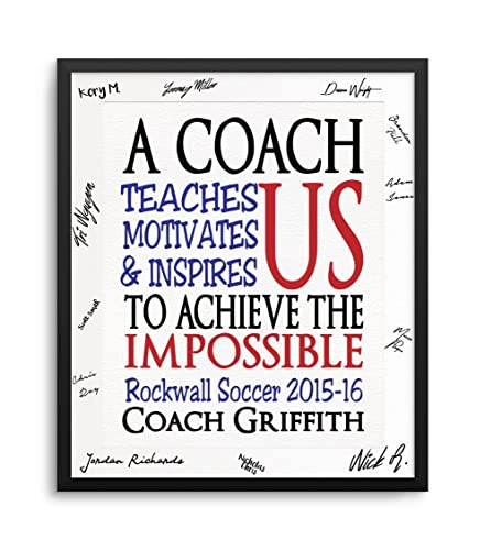 Amazon com: Personalized Coach Art Print, Optional Black Gallery
