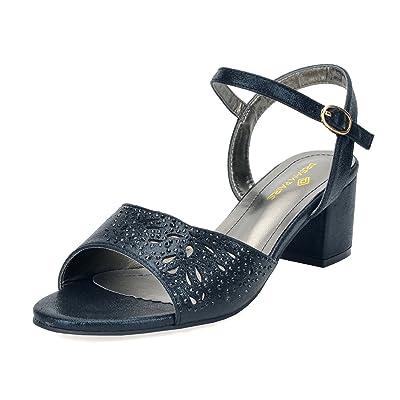 DREAM PAIRS Women's Light Weight Block Pump Heeled Sandals | Heeled Sandals