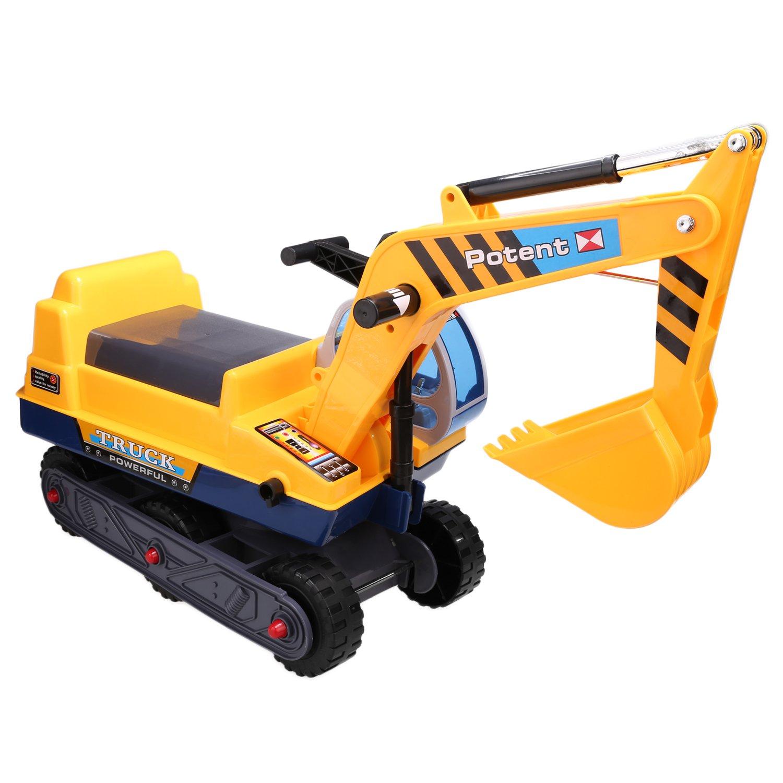 Smibie Sitzbagger Neue Kinder Spielzeug Caterpillar Bagger LKW Spielzeug Sandbagger für Kinder mit Schaufel Arm Claw