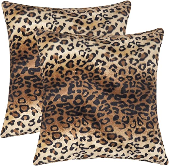 Personalized Fall Pillow Cover Fall Decorative Pillow Cover Leopard Feathers Pillow Cover