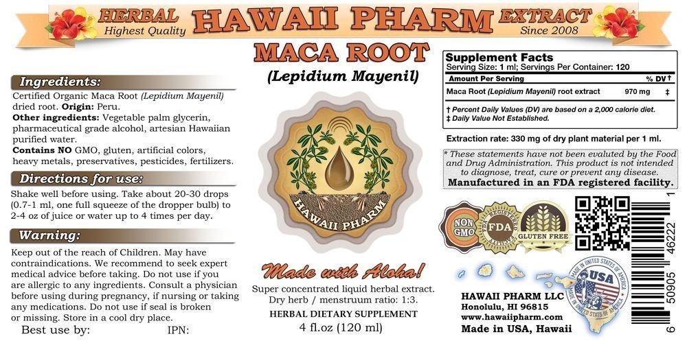 Maca Root Liquid Extract, Organic Or Wild Harvested Maca Root Lepidium Meyenii Tincture Supplement 32 oz Unfiltered