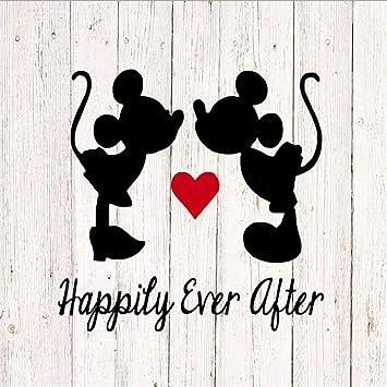 Dibujos Animados De Mickey Y Minnie Mouse Felices Para Siempre