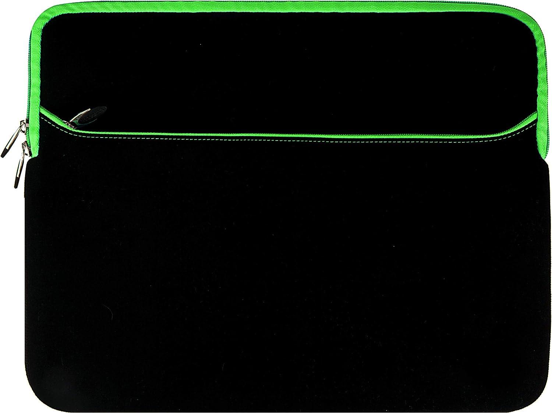 Laptop Sleeve 15.6 inch for Dell Inspiron 3000 3505 3583 Latitude 7400 5400 7480 E7470, Gaming G3 15 3500, Vostro, Precision (Black Green)