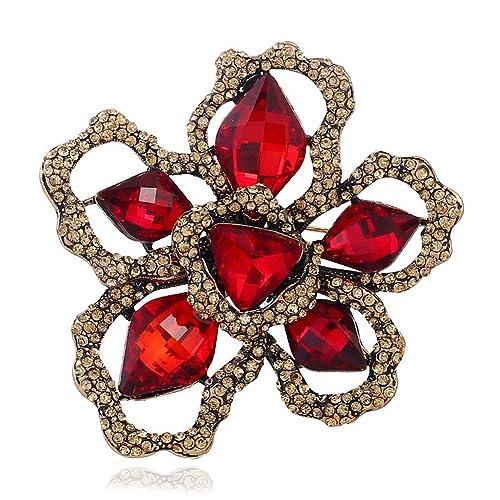 Women Fancy Hat Rhinestones Brooches Alloy Brooch Pins Fashion Jewellery