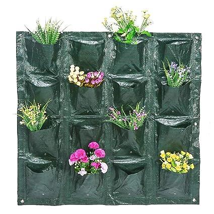 Bolsa De Cultivo De Planta, Bolsas para plantas, Bolsas de plantación de bolsillos, planta de jardín vertical Cultivo de flores Greening tapiz de ...