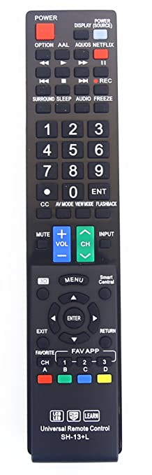 amazon com sharp gb004wjsa universal remote control for all sharp rh amazon com sharp aquos remote control gb004wjsa manual sharp aquos remote control gb004wjsa manual