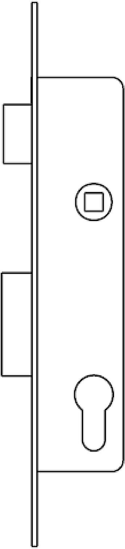 221038AI 25 mm Cerradura Monopunto Para Perfiles Met/álicos Tesa Assa Abloy