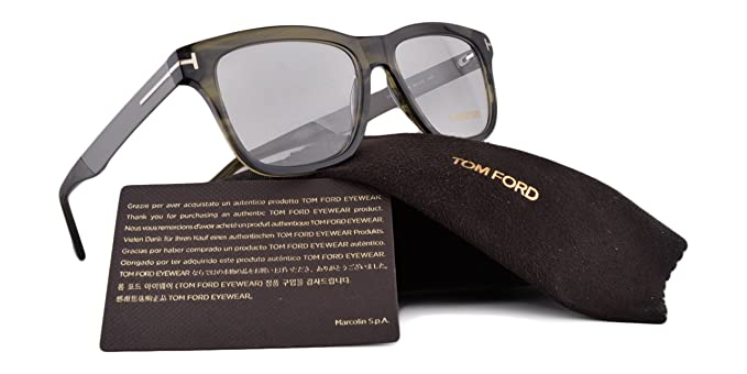 d486d6407f4 Tom Ford FT5372 Eyeglasses 52-16-145 Dark Green Crystal w Demo Clear Lens 098  TF5372 FT 5372  Amazon.ca  Home   Kitchen