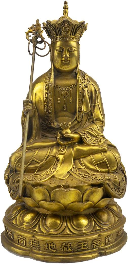 Brass Ksitigarbha Buddha Statue Figurine 8