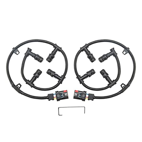 orion motor tech 6 0 glow plug connector wire harness complete kit with  removal tool, compatible
