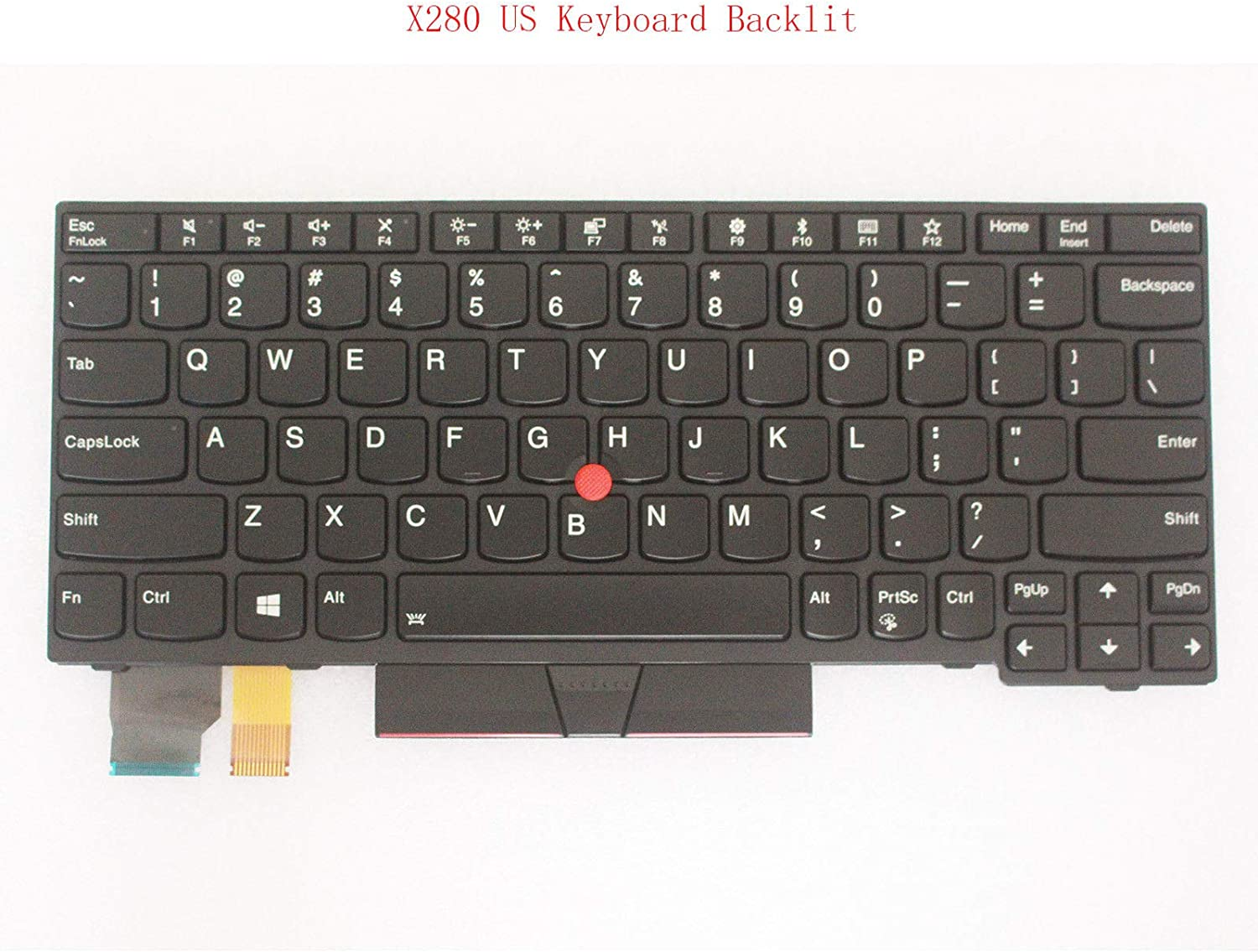 Original New for Lenovo Thinkpad X280 20KF 20KE US Layout Backlit Keyboard 01YP040
