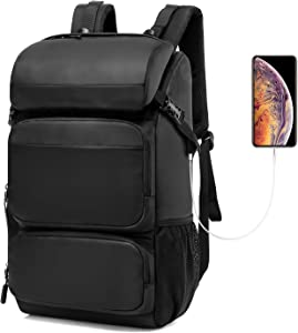 CoolBELL Laptop Backpack 17 Inch Computer Backpack Water-Resistant Travel Backpack Large 40L Large Capacity Bag Fits 17.3 Inches Laptop for Women/Men/Hiking/Outdoor/School/Traveling (Black)