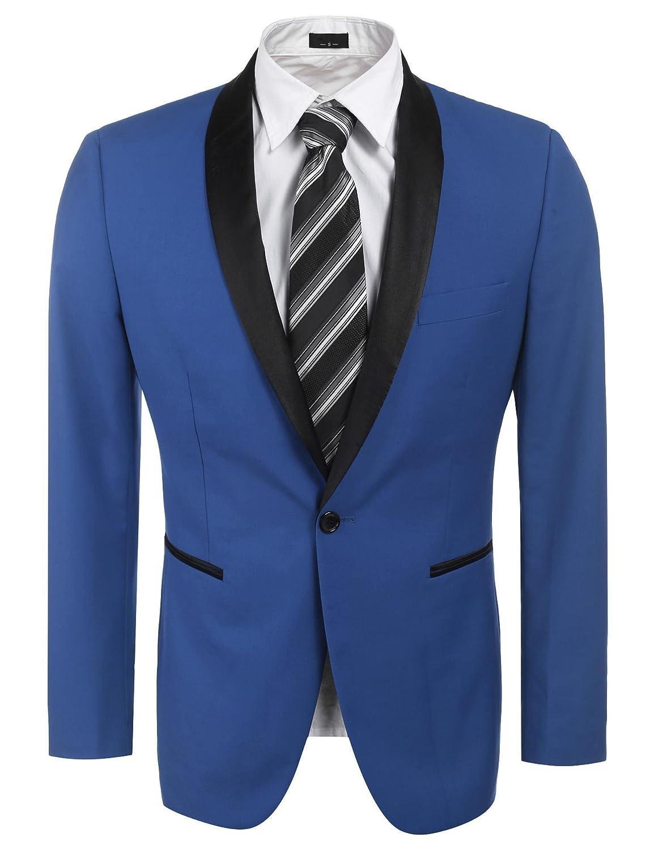JINIDU Men's Slim Fit Blazer Jacket Casual Business Blazers Jacket Weddings Tuxedo CXJ005548