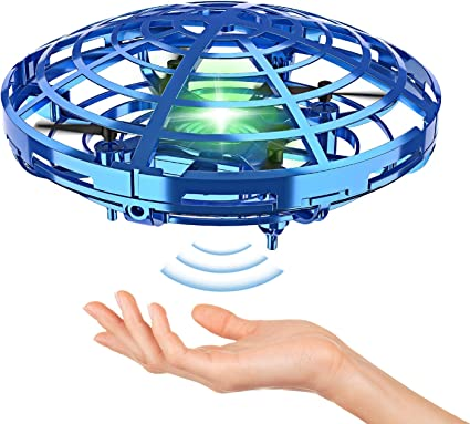 Hand Operated Drones ONXE Interactive Infrared Induction Indoor Helicopter Ball with Shinning LED Lights,Hand-Controlled Flying Ball Toys for Kids or Adult