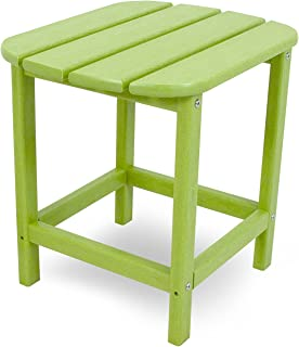 "product image for POLYWOOD SBT18LI South Beach 18"" Outdoor Side Table, Lime"