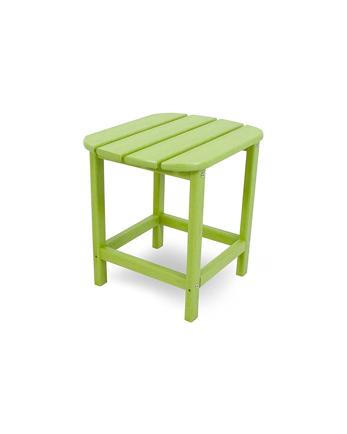 "POLYWOOD SBT18LI South Beach 18"" Outdoor Side Table, Lime"
