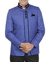 Wintage Men's Rayon Bandhgala Festive Nehru Mandarin Blazer - Available in 11 Colors
