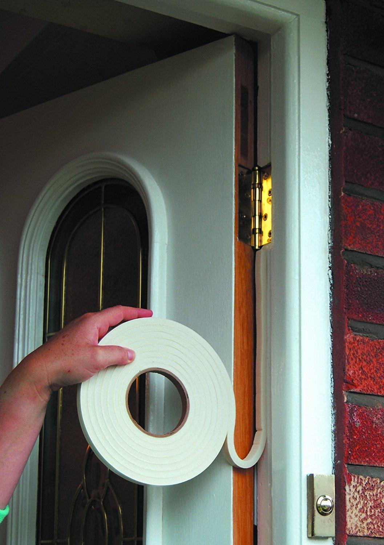 Ducomi blanco Junta adhesiva de goma de EPDM para sellar la junta entra las hojas de la ventana // puerta y el marco y aislar Duraci/ón m/áxima: 8 a/ños.