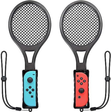 Switch Raqueta de tenis para Mario Tennis Aces, paquete doble Nintendo Switch Joy-Con Controlador para Tennis World Tour Game Accesorios, experiencia realista como regalos para niños y adultos: Amazon.es: Belleza