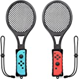 Switch Tennis Racket for Mario Tennis Aces, Twin Pack Nintendo Switch Joy-Con Controller for Tennis World Tour Game Accessories, Realistic Experience as Gifts for Kids and Adults