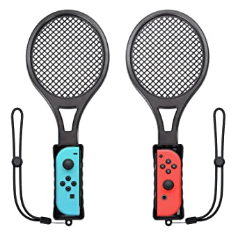 Amazon Com Tennis Racket For Nintendo Switch Twin Pack Tennis
