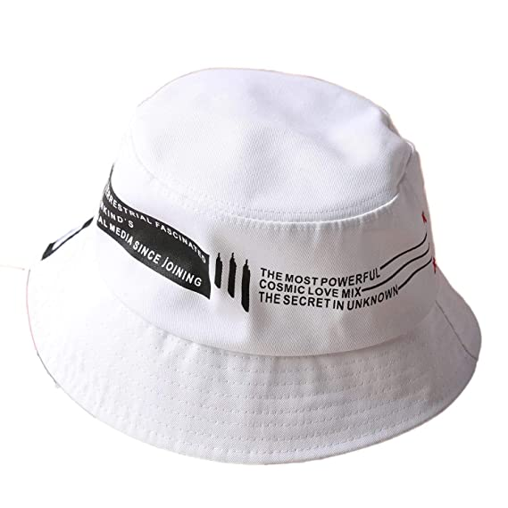 b84a0837b3f3bb ChezAbbey Men's Flat Top Bucket Hats Solid Color Sun Protection Fisherman  Caps One Size Multi: Amazon.in: Clothing & Accessories