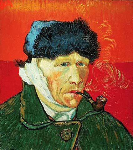 Jh Lacrocon Van Gogh Autoportrait A L Oreille Bandee Tableau Reproduction Sur Toile Roulee 50x55 Cm Portrait Peintures Impressions Pour Mur Amazon Fr Cuisine Maison
