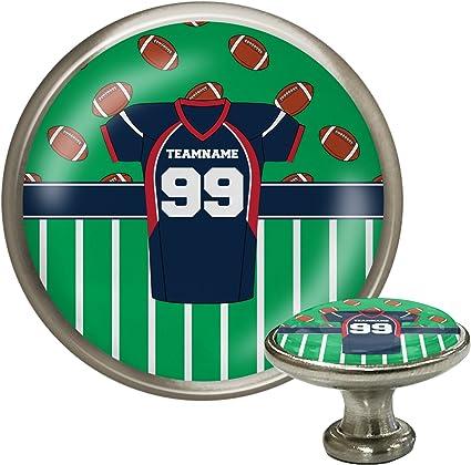 Fútbol Jersey armario pomo (plata) (personalizado)