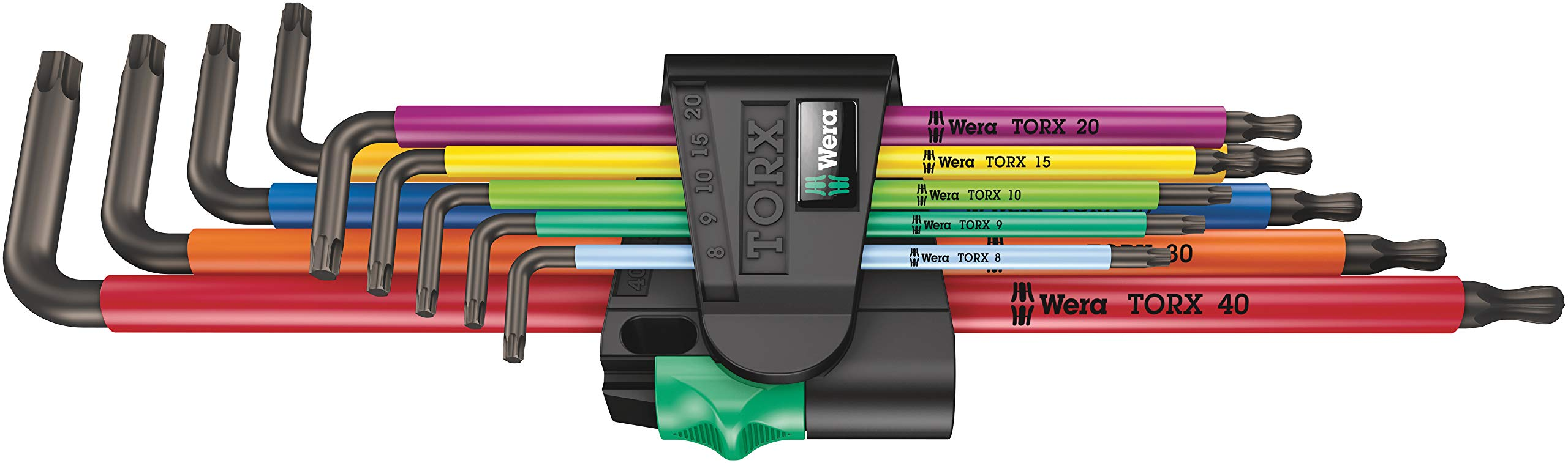 Wera 05024480001 967/9 TX XL Multicolor 1 L-Key Set, TORX, Long, (Pack of 9) by Wera