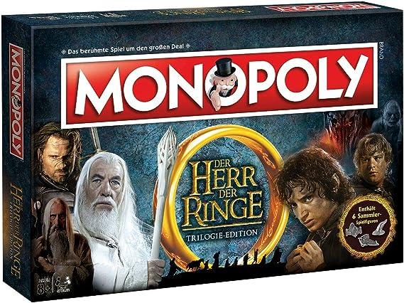 Winning Moves Monopoly el señor de los Anillos Edition – Familia de la Lucha por Tierra Media | Sociedad Parte | Parte | Tabla Juego clásico |: Amazon.es: Juguetes y juegos