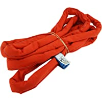 USA Made VR6 X 6' Orange Slings 6'-30' Lengths in Listing, Double PLY Cover Endless Round Poly Lifting Slings; 16,800 lbs Vert;13,440 lbs Choke; 33,600 lbs Basket (USA Polyester) (6 FT)