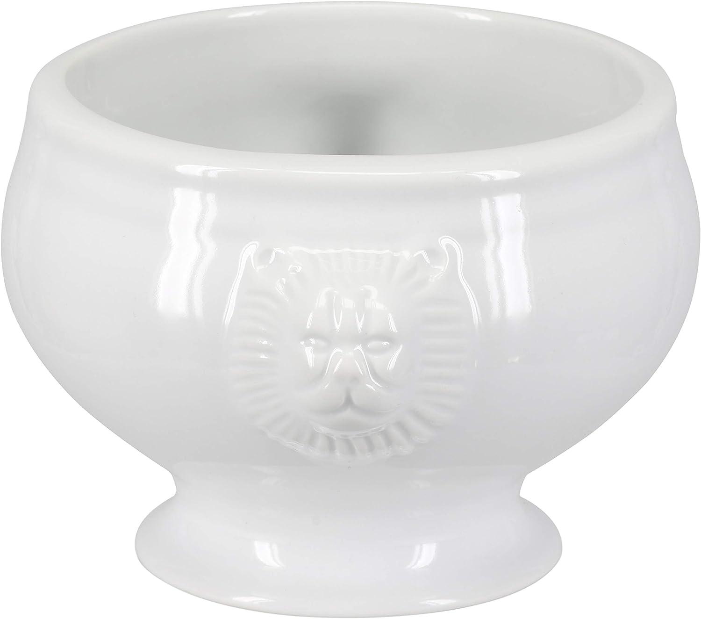 | BIA Cordon Bleu Soup Lions Head Bowl, Set of 4, White: Soup Bowls