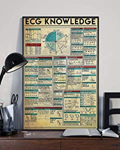 HolyShirts ECG Knowledge Poster (24 inches x 36 inches)