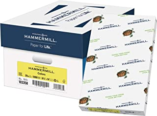 product image for Hammermill Colored Paper, 20 lb Canary Printer Paper, 8.5 x 14 - 1 Ream (500 Sheets) - Made in the USA, Pastel Paper