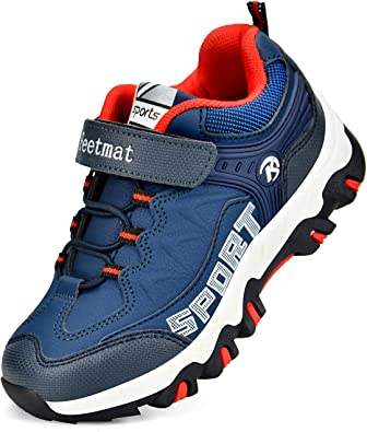 QANSI Boys Hiking Shoes Waterproof Wide