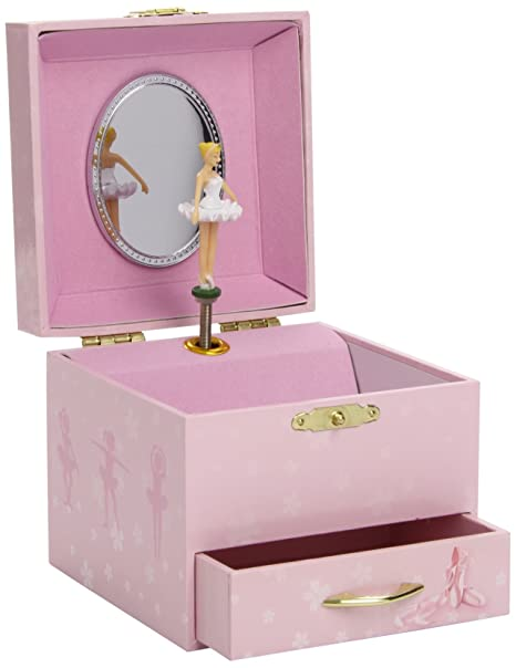 Spieluhr XL White Ballerina Kinder Spielzeug Schmuckkiste Spieldosen Trousselier S60974