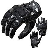 Motorradhandschuhe PROANTI® Motorrad Handschuhe Sommer (Gr. XS - XXL, schwarz, kurz)