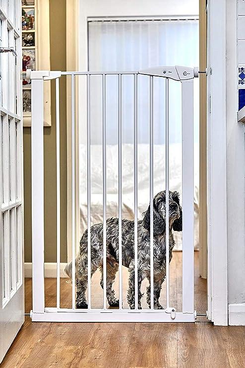 CALLOWESSE Barrera de Seguridad Extra-Hecha Para Niños & Mascotas 75-82cm x 110cm - A Presión (Blanca): Amazon.es: Bebé