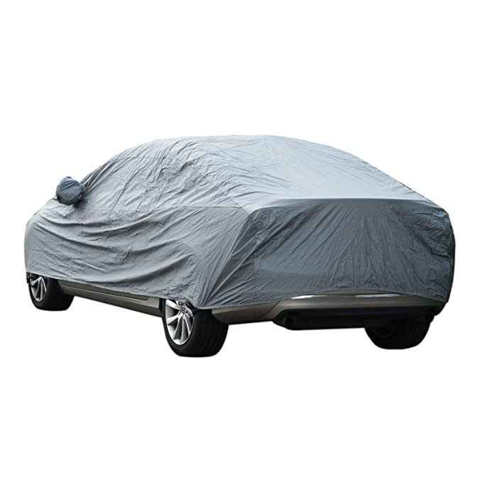 1.20M Vinteky Car Cover Waterproof Snow Cover Full Size Cover All Season All Weather Protect from Moisture Snow Frost Corrosion Dust Dirt Scrapes Fit Most of Cars XL-5.30 1.80